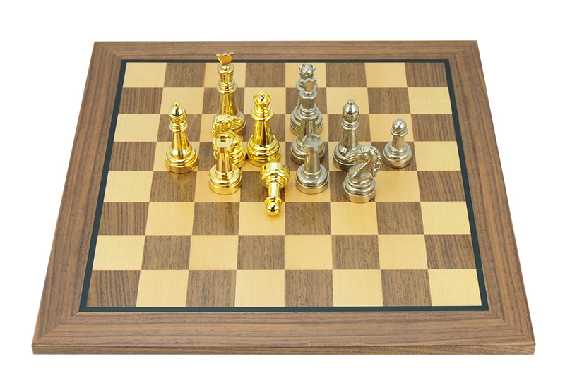 High-End Walnut Wood  Chess Board Game Set (6)