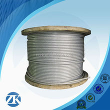 Tent rope,6x12+7fc pvc coated wire rope