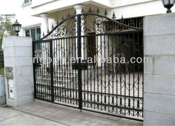 Top selling modern automatic driveway small iron gate for Motorized driveway gate price