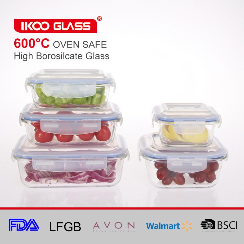 Vistoso Recipientes De Almacenamiento De Vidrio Cocina Walmart Fotos ...