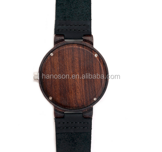 Newest design fashion mens wooden watches hottest smart man wooden face watch