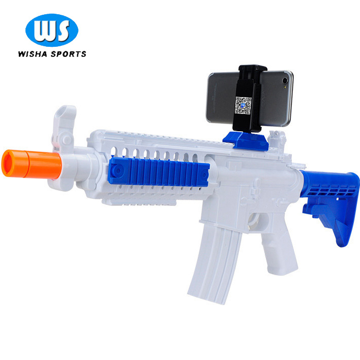 Factory price bluetooth Electronic submachine pretend play toy ar gun For Android and iOS Cell Phone
