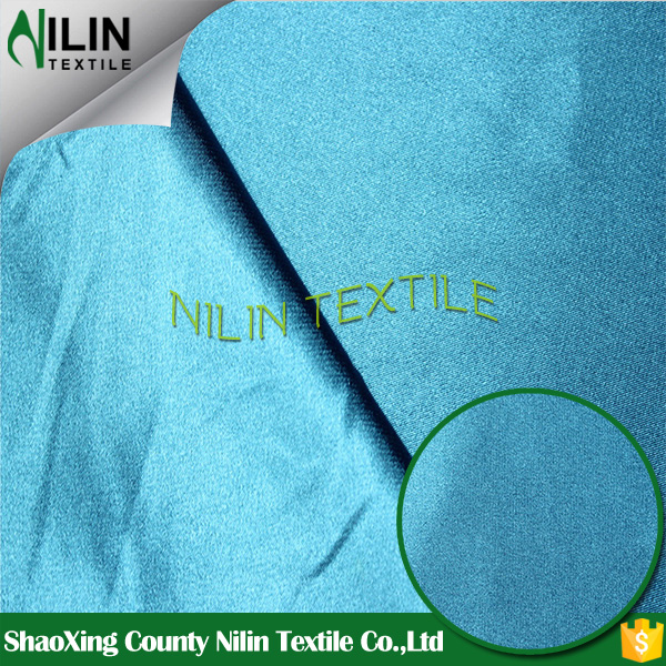 Full dull matte polyester stretch satin fabric