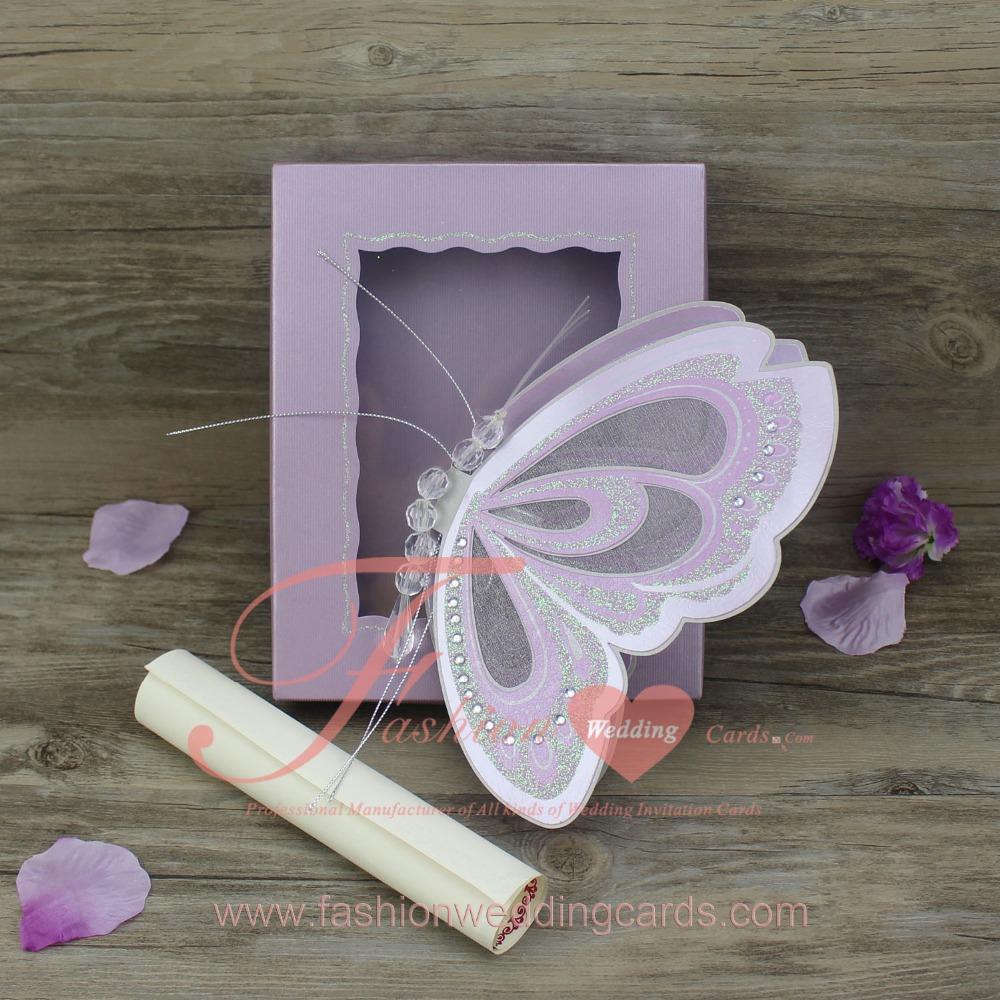 Butterfly Scroll Wedding Invitations, Butterfly Scroll Wedding ...
