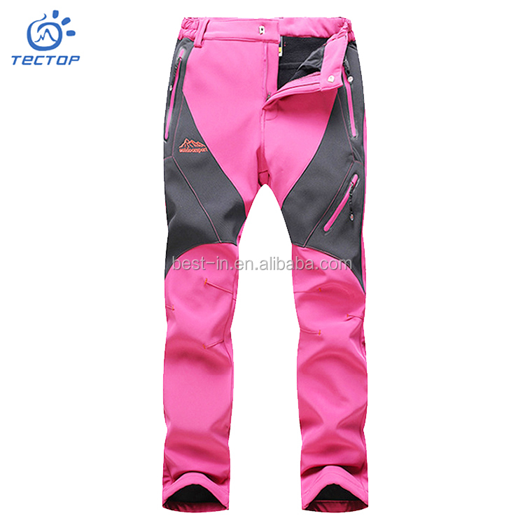 Waterproof Windproof Hiking Hardshell Pants Fat Woman Pants