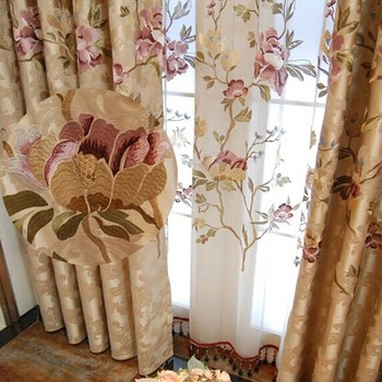 flower fancy drapes balcony curtains bedroom sheer window itm curtain tulle door butterfly