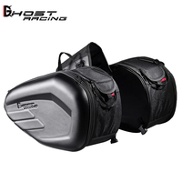 GHOST RACING high quality Waterproof black saddle bag Motorcycle helmet bag with High-capacity