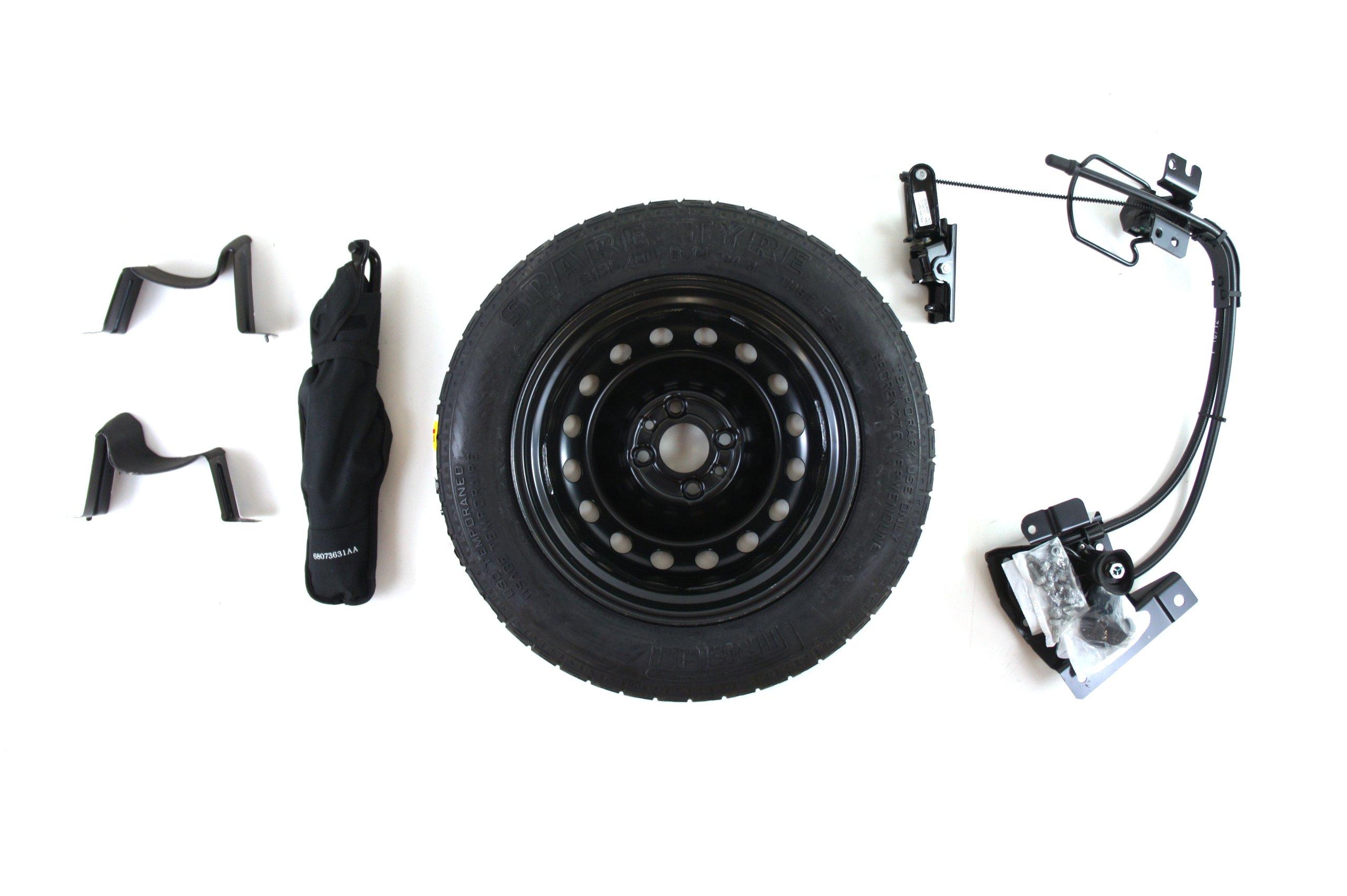 Genuine Fiat Accessories 82212995 Spare Tire Kit for Fiat 500/500C