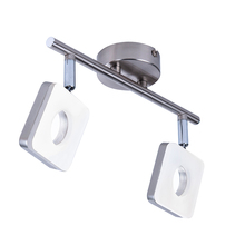 Metal bar adjustable 2 way heads chrome twin led ceiling spotlight