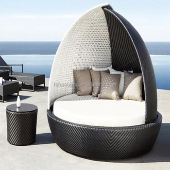All Weather Wicker Cabana Day Bed Outdoor Indoor Rattan