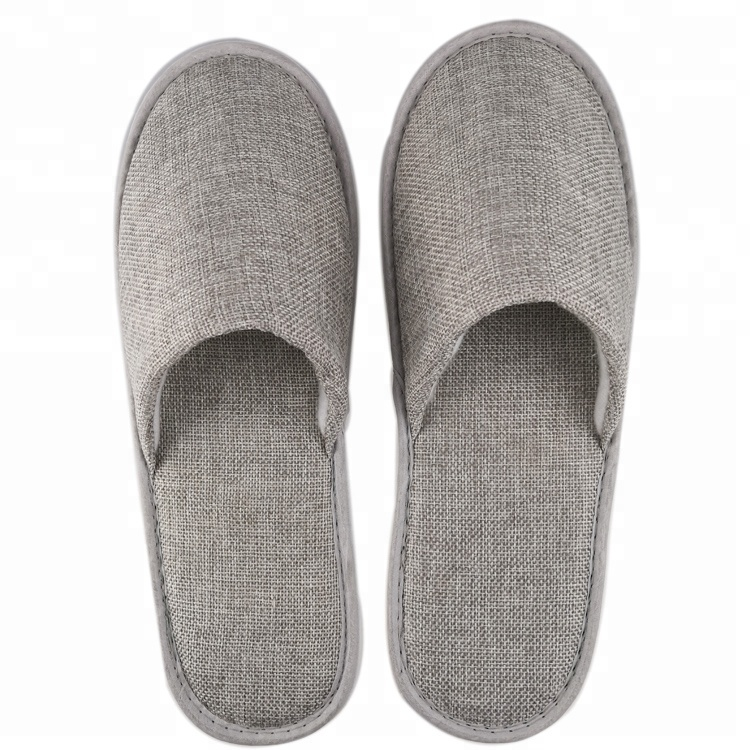 0728235c2 China Hotel Soft Luxury Grey Linen Bedroom Slippers - Buy Luxury ...