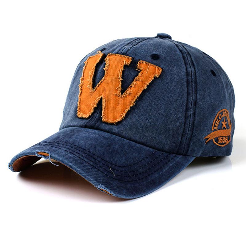 Gorras de béisbol de moda de diseño personalizado Snapback Unisex verano  letra W gorras de béisbol de Hockey letra simple belleza Hip Hop Top  sombrero 505ecd62620