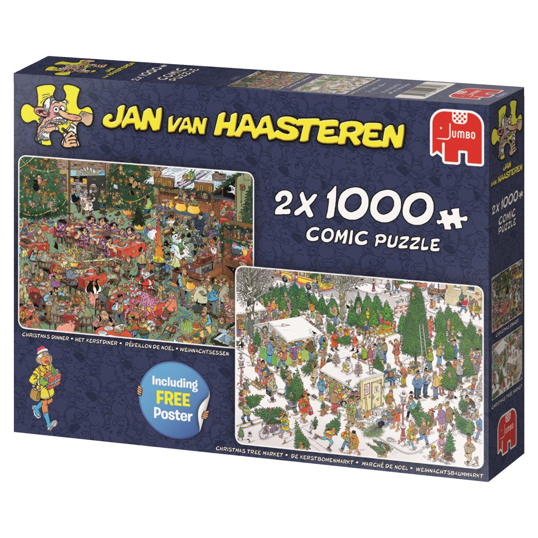 jan van haasteren christmas gifts 2 in 1 jigsaw puzzles 2 x 1000