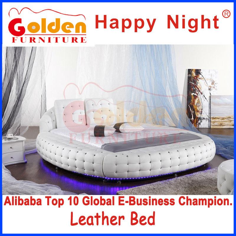 fournisseurs de la chine foshan meubles dor s super king size lit rond en vente h6821 literie. Black Bedroom Furniture Sets. Home Design Ideas