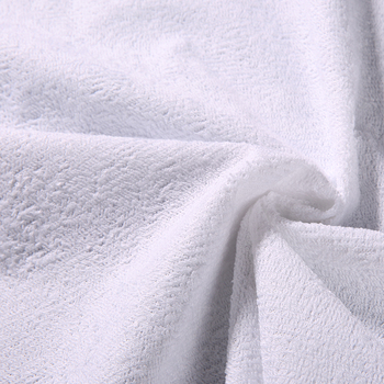 Wholesale Waterproof Bamboo Fiber Terry Cloth Laminated with PU