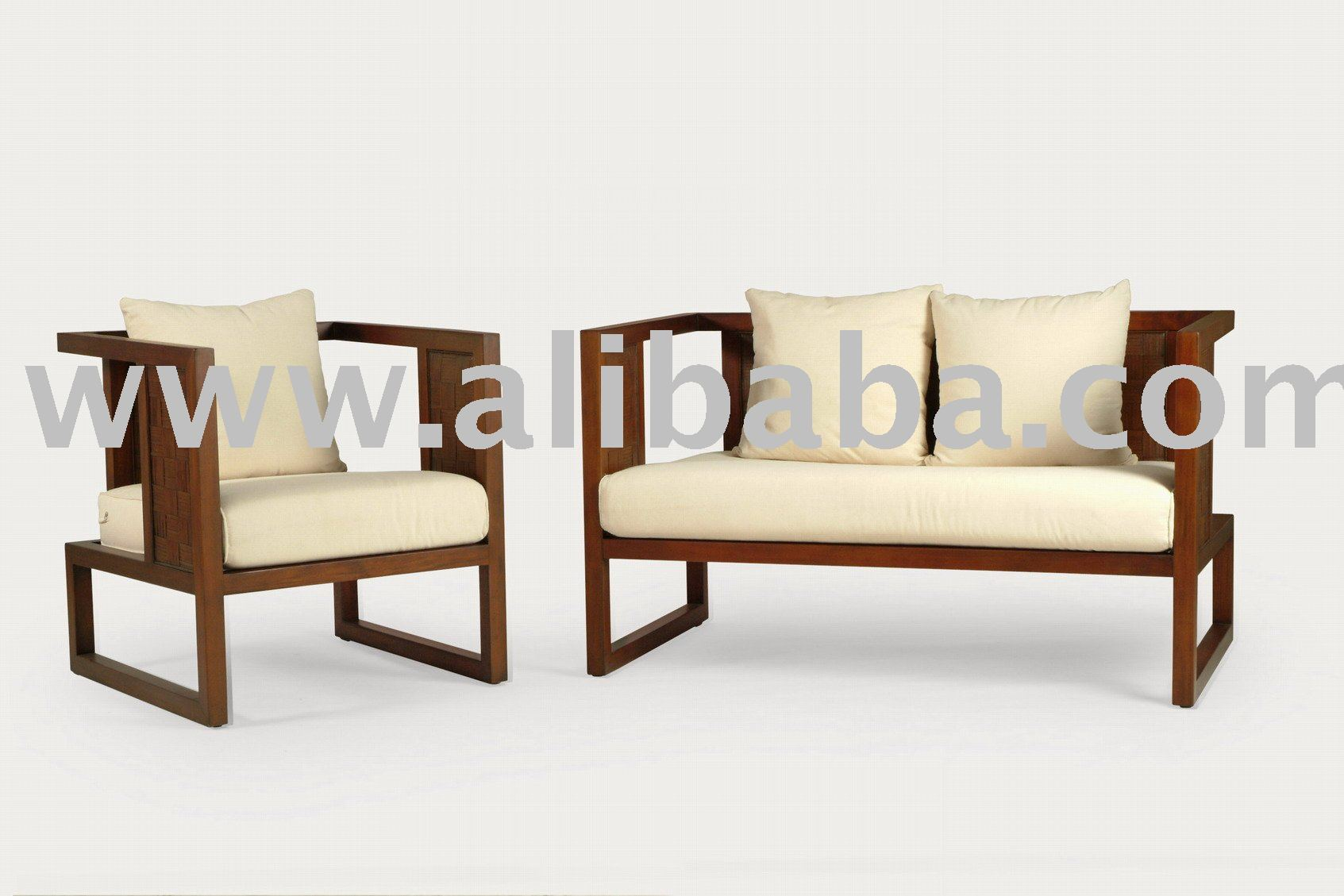 Wooden Sofa Chair ~ Wooden living room furniture sets peenmedia