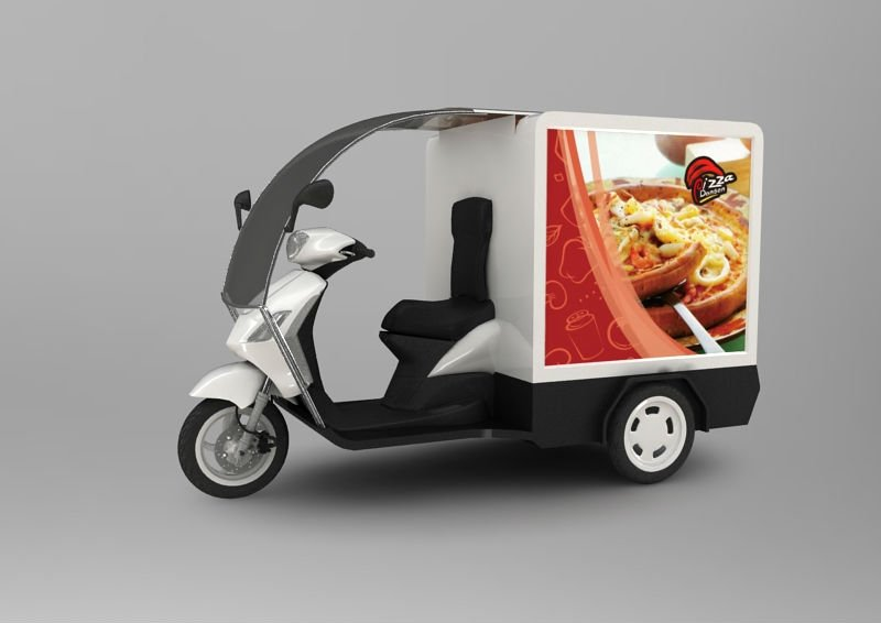 Pizza Delivery Motorcycle Tail Boxes With Heat Insulation Can Put All Kinds Of Food Buy Food