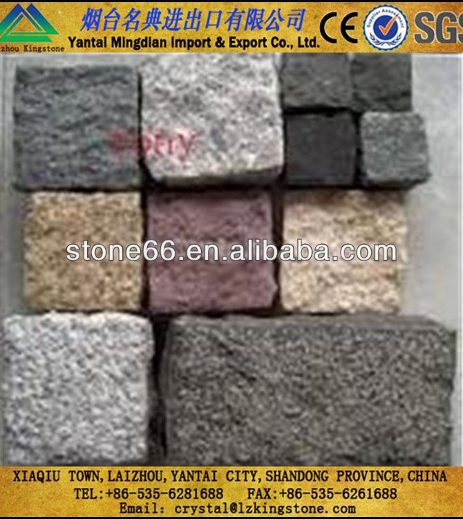 High quality natural stone cobble tufting machine