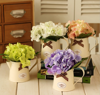 Korea fashion wholesale artificial hydrangea potted flowers