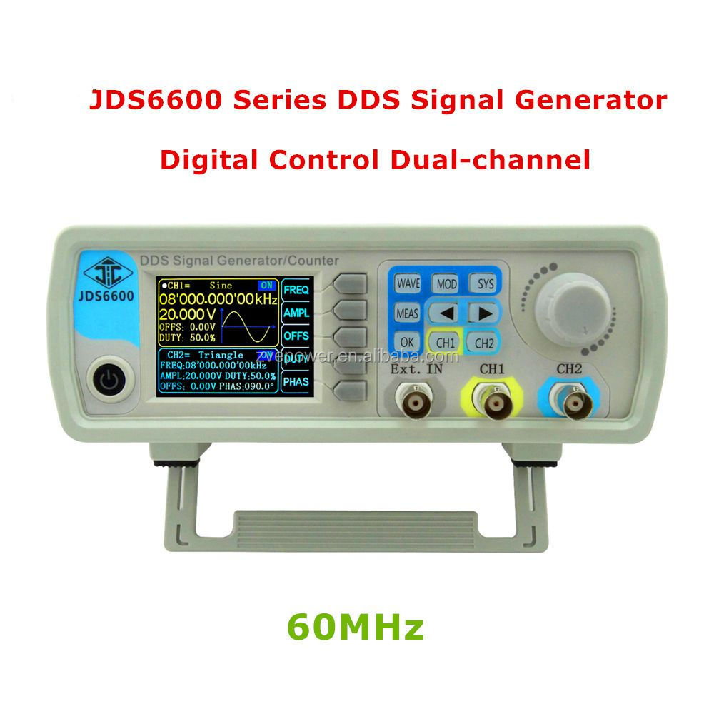 JDS6600 Series 15MHZ to 60MHZ Digital Control Dual-channel DDS Signal Generator