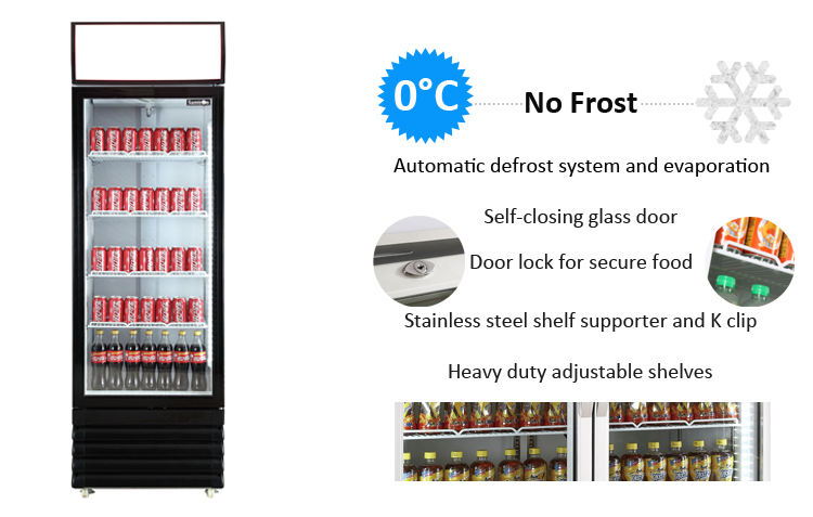Altaqua display refrigerator showcase of 2 door glass upright vertical type for soft drink & beer