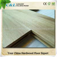 C&L natural color unfinished Acacia solid wood flooring