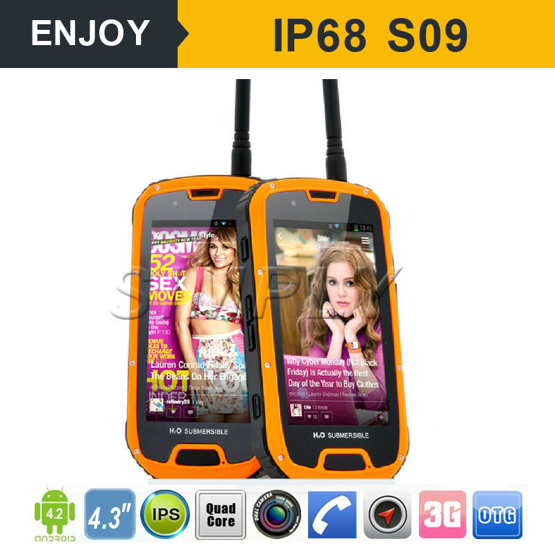 IP68 android4.4 china cell phone two way radio UHF400-480