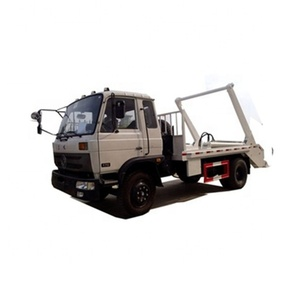 10cbm Swept-body refuse collector swing arm garbage truck skip loader garbage truck for sale