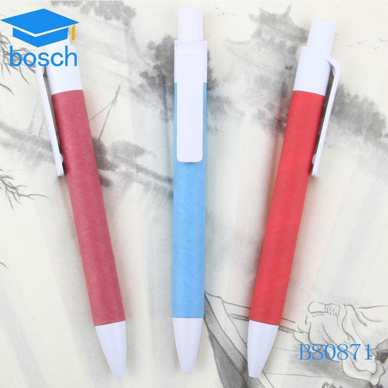 Factory prices Eco Paper Pen Roller Ball Pen Eco pen with cap