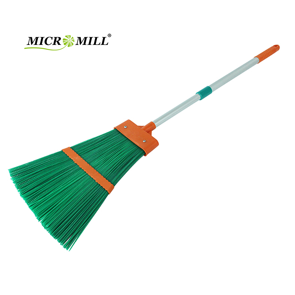 China wholesale home cleaning plastic broom garden sweeping grass long handle broom
