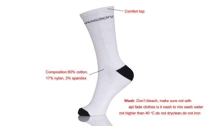 White Sock Air Conditioned  Private Label Socks