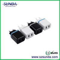 2016 wholesale China suppliers portable mini dual usb 5v 2a QC 2.0 wall charger