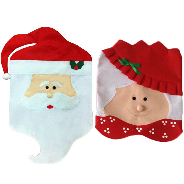 Mr & Mrs Santa Clause Dining Room Chair Back Hat Cap Covers For Christmas Xmas Dinner Table Party Decoration Ornaments Supplies