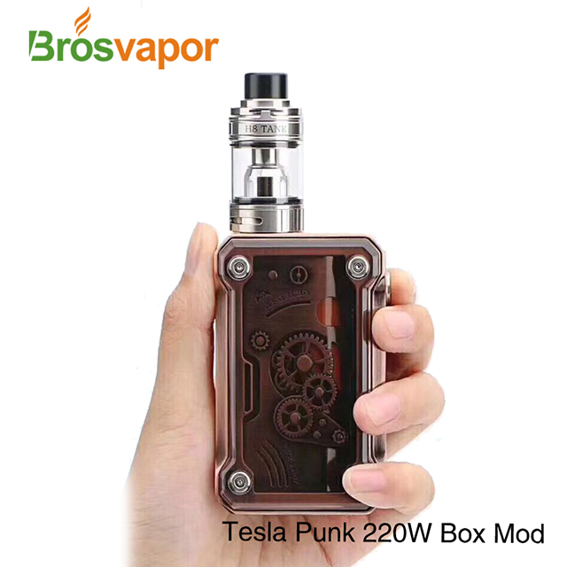 2017 Teslacigs newest vape kit with factory price Tesla Punk 220w kit