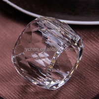 Cheap Crystal glass napkin rings for wedding