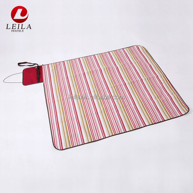 wholesale high quality 100% polyester camping floor bag sand less beach mat