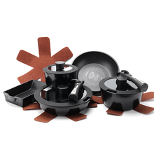 Non-stick removable cookware casserole sets home kitchen 5pc sets