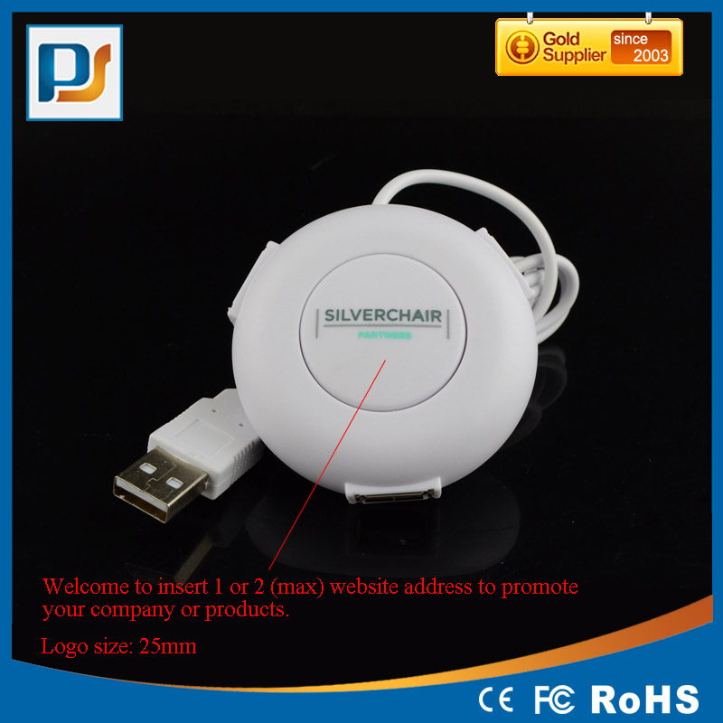 USB Hub Web Button 3 USB2.0 Ports 2 Website Address Insert Hub for Promotional Gifts