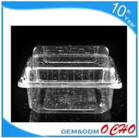 Thermoforming blister process PET clear Hinged plastic cake container