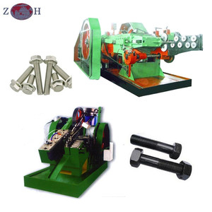 Automatic Bolt making machine for hex bolt with threading