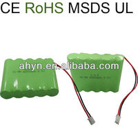 nimh rechargeable ni-mh battery cell A2500 6V battery pack