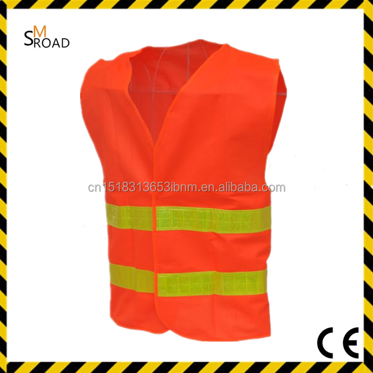 Motorcycle Riding Security protection YELLOW ORANGE fluorescent safety vest