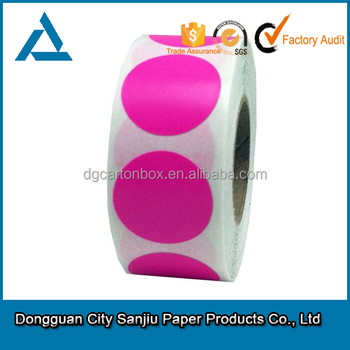 Customized red circle packaging sticker circle logo stickers label