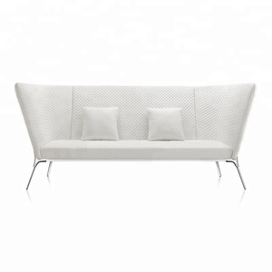 White high back italy leather latest new model modern design 4 seats seater big office wedding sofa