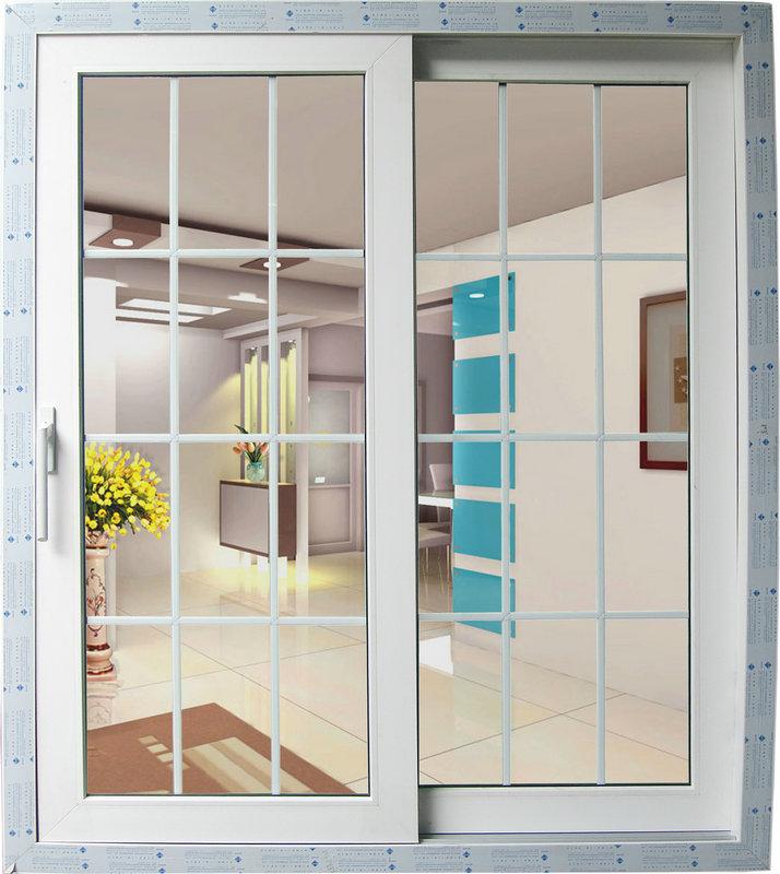 Professional Manufacturer Upvc Profile Tempered Glass Grid Sliding