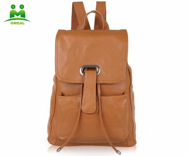 The new leather backpack Candy color women wholesale handbags manufacturer