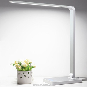 Folding Dimmable LED Desk/Office/Table Lamp,3-Mode, 8-Level Dimmer, Touch-Sensitive Control Panel, 5V/1A USB Charging Port