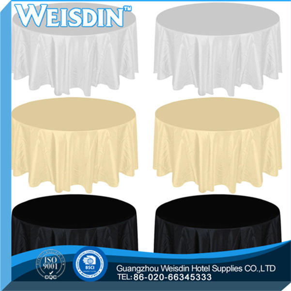 Hotel high quality round table cloth factory rubber table cloth