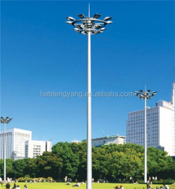 Q235 galvanised street lighting poles for sale