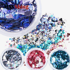 Chunky glitter iridescent color poly flake glitter for DIY decoration, bulk crafting glitter